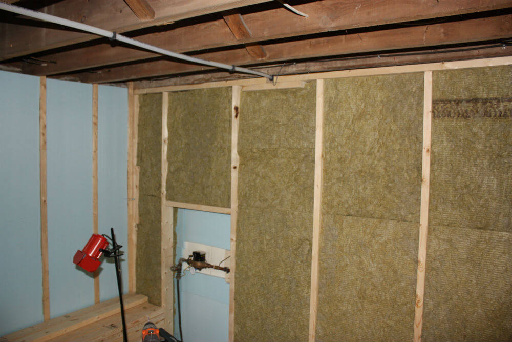 Green insulation in between two-by-fours