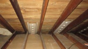 Baffles are added to allow for air into the attic-500x375