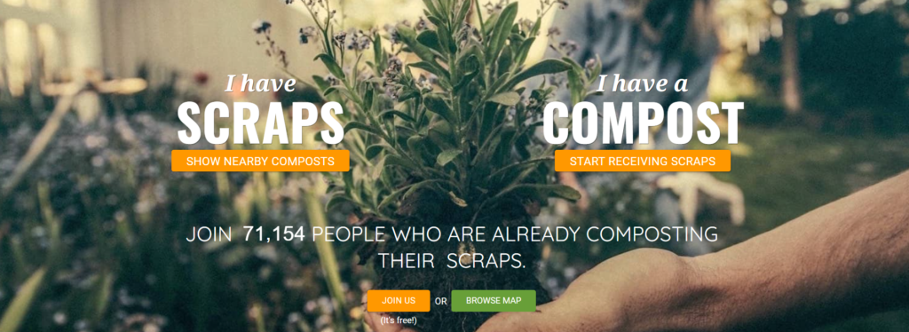share waste app front page zero waste compost