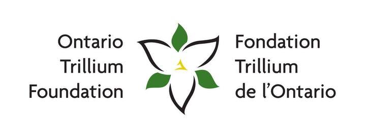 Logo shows a stylized trillium flower and the text Ontario Trillium Foundation/Fondation Trillium de l'Ontario