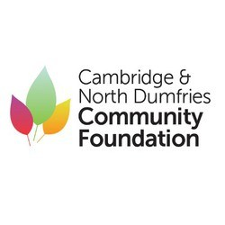Logo shows stylized leaves and the text Cambridge & North Dumfries Community Foundation