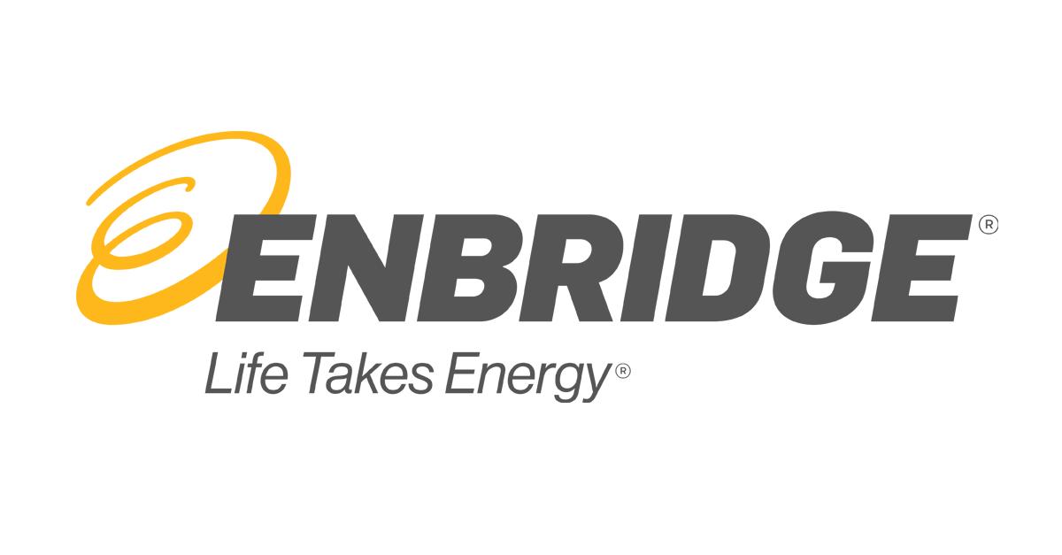 """Enbridge Gas Logo. """"Life Takes Energy"""""""